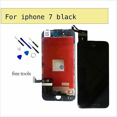 Touch Screen Digitizer LCD Display Replacement Assembly For Black iPhone 7 4.7""