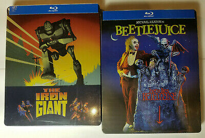 THE IRON GIANT + BEETLEJUICE Limited Edition (2x STEELBOOKS, Blu-ray)