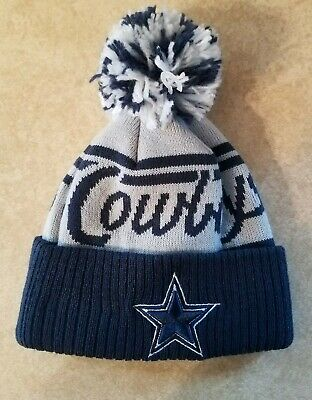 37a8760940dac Dallas Cowboys Toddler Winter Cold Weather Hat Cap Navy Gray Football New  Era