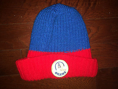 fdbdf7a71c3 HOUSTON OILERS Vtg 70 s 80 s Snow Ski Hat Cap BEANIE robber mask Patch EUC