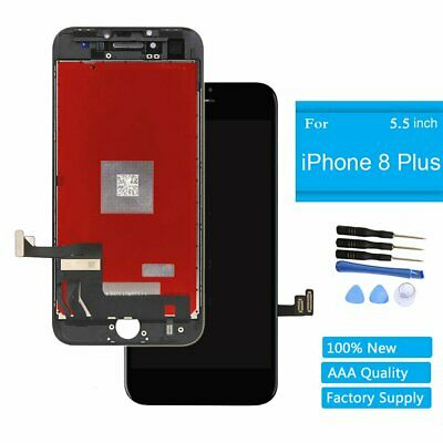 """For iPhone 8 Plus 5.5'"""" Screen Glass Replacement LCD Display 3D Touch Black"""