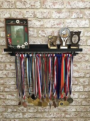 🏅DOUBLE Medal Hanger & Trophy Display Shelf Gymnastics Football Rugby Cricket🏆