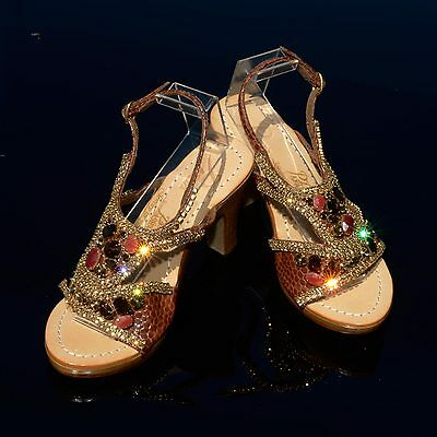 e10fb02ac PASHA LEMBATA CRYSTAL jeweled leather sandals