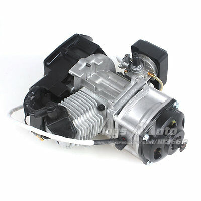 47CC 2-stroke Electric Start Engine Motor Pocket Mini Bike Scooter ATV 7T 25H
