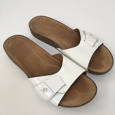 2678711fef69 Clarks Artisan Women s Perri Reef White Leather Slide Sandals Size Uk 7