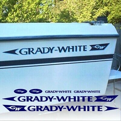 Grady White Decals Factory Sized Aftermarket Hull Replacement Stickers