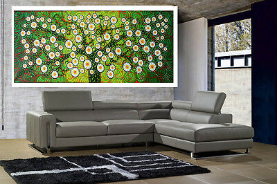 canvas abstract art landscape painting trees flowers by  jane Australia