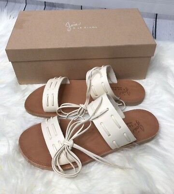 5a720f57f27f Joie Prisca Flat Sandal Woman s Size 8.5 Wrap Around Ankle Cream Latte  188