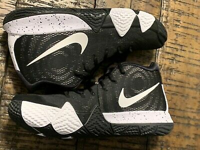 303b39dddd76 Nike Kyrie 4 TB Men s Basketball Shoes AV2296-001 Black white Size 10.5  NOBOXTOP