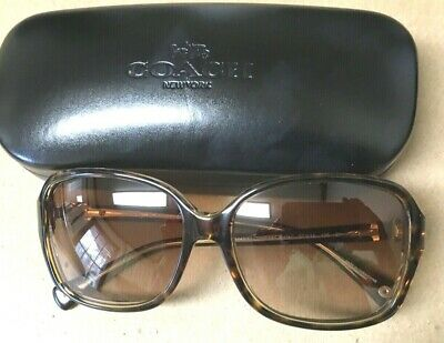 a2901ef1ace3 Nwot Coach Tortoise Shell Sunglasses In Coach Black Hinged Case