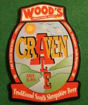 Beer Ale Pump Clip - The Wood Brewery Craven   - Man Cave  (Ii05)