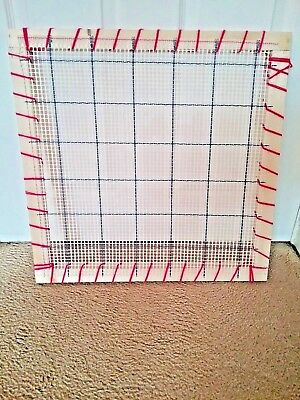 Rug hooking frame / Punch needle frame  with canvas