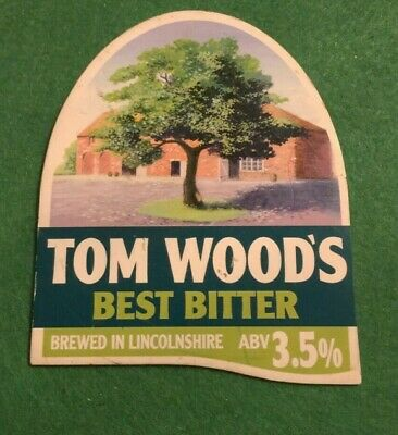 Beer Ale Pump Clip - Tom Woods  Brewery Best Bitter  - Man Cave  (Ii06)