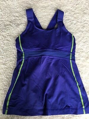 94d0c4804e939 Lululemon Womens Size 6 Tank Top Yoga Running Fitness Sports Athletic Blue