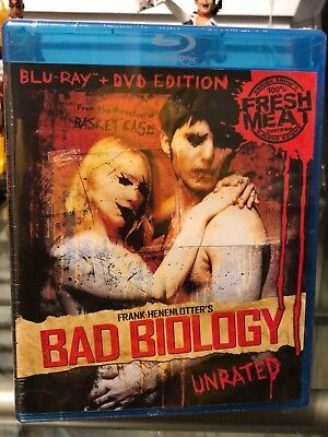 Bad Biology (Blu-ray/DVD) Frank Henenlotter, James Glickenhaus, Krista Ayne, NEW