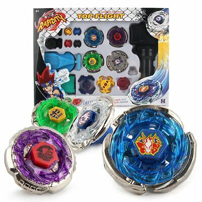 Top Fusion Metal Master Fight Rapidity Rare 4D Beyblade Launcher Set Kid To K♚~