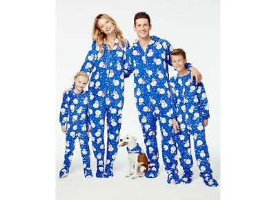 24bcf76d28 Macys Family Pajamas Snowman Footed Pajama Sets Mens  Womens  Kids  Toddler
