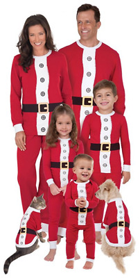 04d915a771 MACY S FAMILY PAJAMAS Red Santa Suit Pajama set Toddler