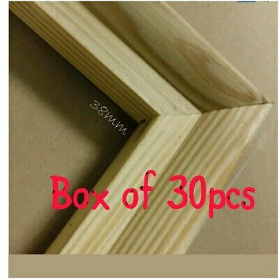 = 30pcs Canvas Stretcher Bars, Canvas Frames, Pine Wood Gallery Bar 38mm 74:21
