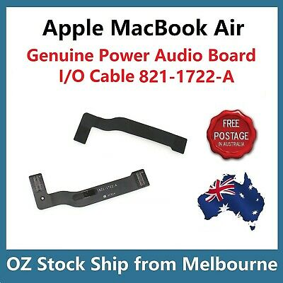 "Genuine MacBook Air 13"" A1466 Power Audio Board Cable 821-1722-A 2013 to 2017"