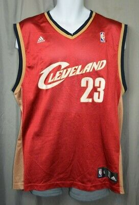 4fd286f9655 MBA Cleveland Cavaliers Adidas Lebron James Jersey #23 Sewn Size Mens Large