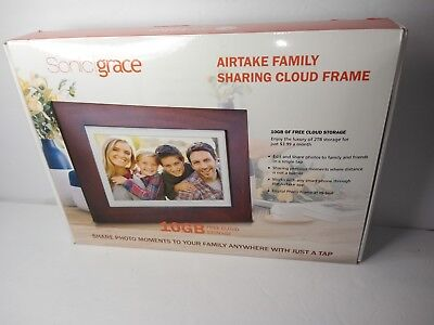 "Sonicgrace 8"" Widescreen Wi-Fi Cloud Digital Photo Frame with IPS Display, HD..."