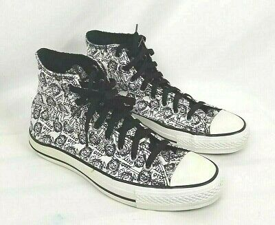 4f57f2d274ba CONVERSE OZZY OSBOURNE 2008 Mens SIZE 7 Black White High Top Lace Up  Sneakers