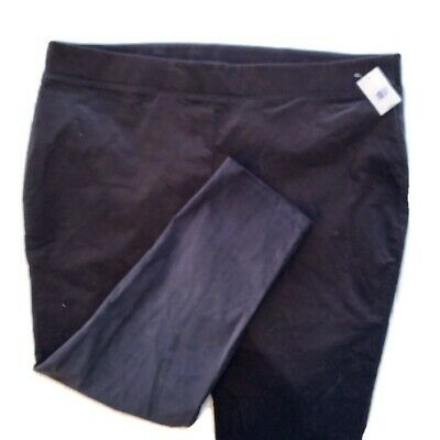 The Limited Collection Black Velvet Pants Size 2X Pull On $79