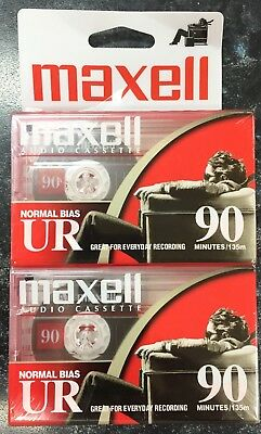 Maxell Ur 90 Normal Position Type I Blank Audio Cassette Tape Twin Pack