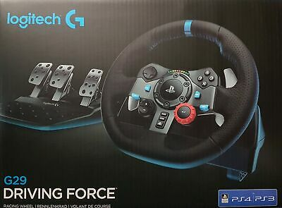 Logitech G29 Racing Volante Driving Force Playstation 4 ,Ps3, Pc, Negro - Nuevo