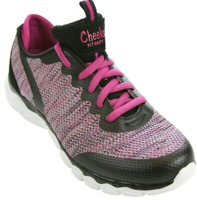 1a25abf5f02 Tony little cheeks Knit Gel trainer sneaker New in box size 6.5 black pink