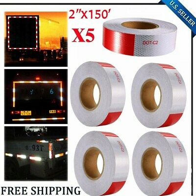 """5PCS Conspicuity Tape 2""""x150' DOT-C2 Approved Reflective Truck Safety Warning BT"""