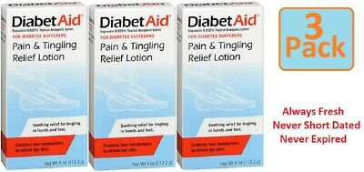 DiabetAid® Pain & Tingling Relief Topical Analgesic Lotion 4 Oz (3 Pack)