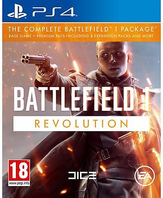 Battlefield 1 Revolution Sony Playstation PS4 Game 18+ Years