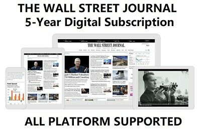 Wall Street Journal WSJ 5-Year Digital Subscription All Platforms Region Free