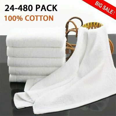 LOT hand towels wholesale towel brand-13x30 inches-white- 3lbs -100% cotton BT
