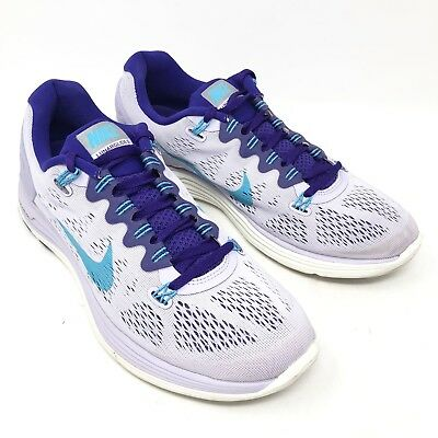 f65e46c40839 Nike 599395-545 Lunarglide 5 Violet Frost Running Shoes Sneakers Women Size  10.5