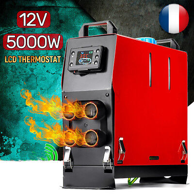 12V 5KW 5000W LCD Air Diesel Heater Chauffage Voiture  Switch Single Hole Heater
