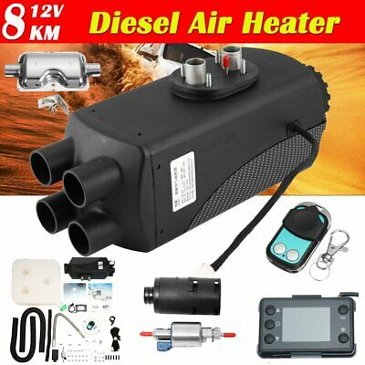12V/8000W Four-Holes Car Heater LCD Dynamic Display Remote Control + Silencer DS