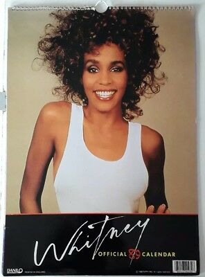 WHITNEY HOUSTON - ORIGINAL 1989 Calendar  with extra August Page