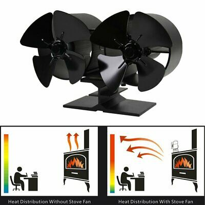 4 Blades Double Heat Powered Fuel Power Saving Home Fuel Power Saving Stove FYT