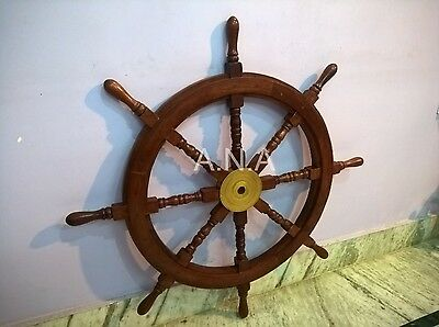 "36 "" Wooden Ship Wheel Nautical Antique Pirate Collectible Decorative Gift"