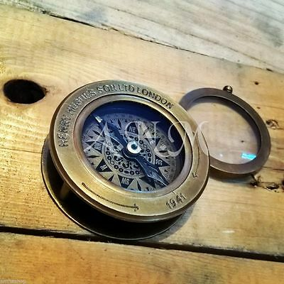 Antique Compass Flip Out Magnifying Glass Vintage