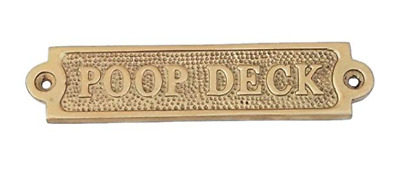 Poop Deck Brass Wall Door Bathroom Restroom Baby Room Changing Table Sign Decor