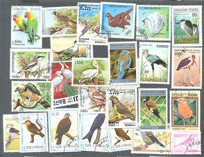 Birds-500 all different stamp collection-excellent value