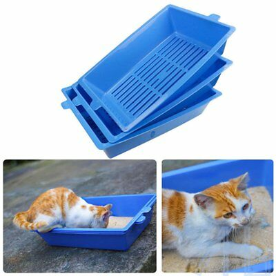 3 Part System Sift Away Self Sifting Litter Toilet Box Don't Scoop Poo Cats PZ