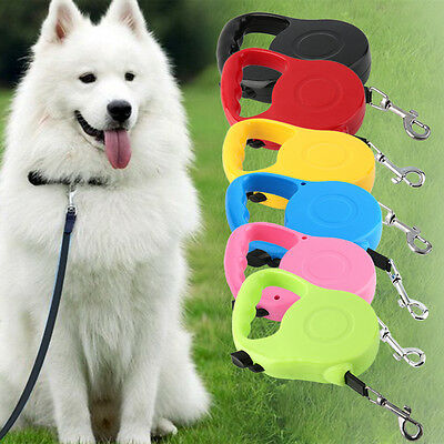High Quality 3M 5M Long Retractable Dog Pet Lead For Training Leash Extendable L