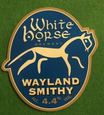 Beer Ale Pump Clip - White Horse  Brewery Wayland Smithy - Man Cave  (Ii12)