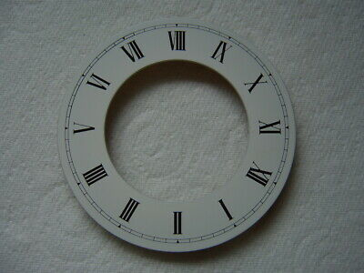 White Chapter Ring Clock Face Or Dial  Roman Black Numerals