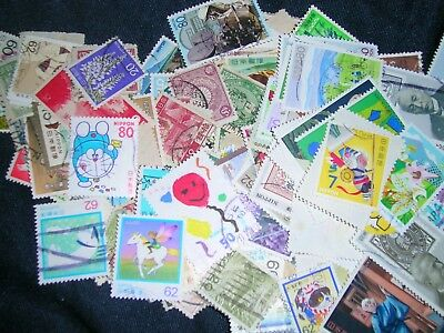 Japan -. Posage Stamps over 100 stamps mixed in great cond